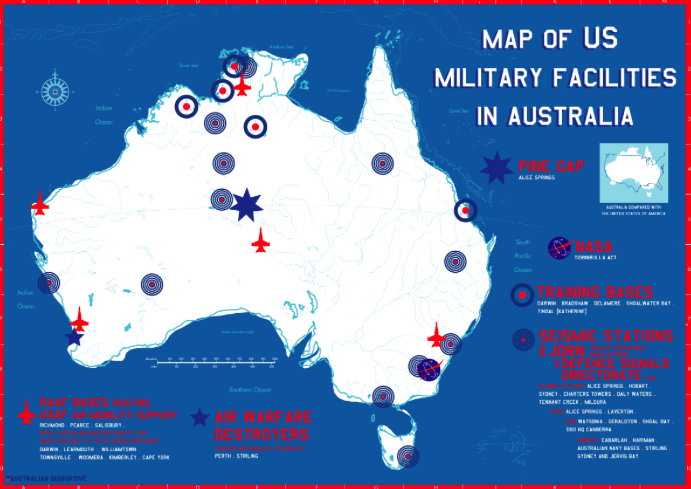 Australian Establishment Discusses Being Dragged Into USChina War - Us china map