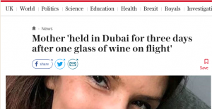 Swedish Woman Detained in Dubai - Don't Believe Everything You Read