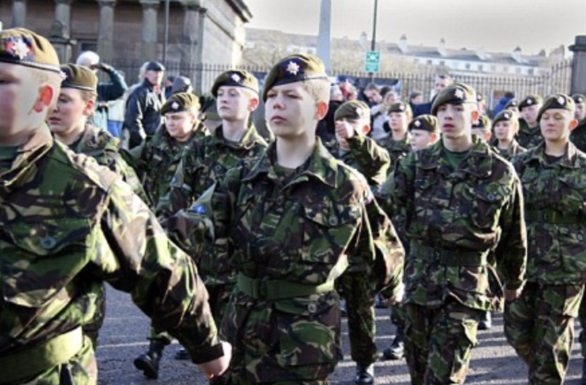 Calls for UK to stop recruiting children into armed forces