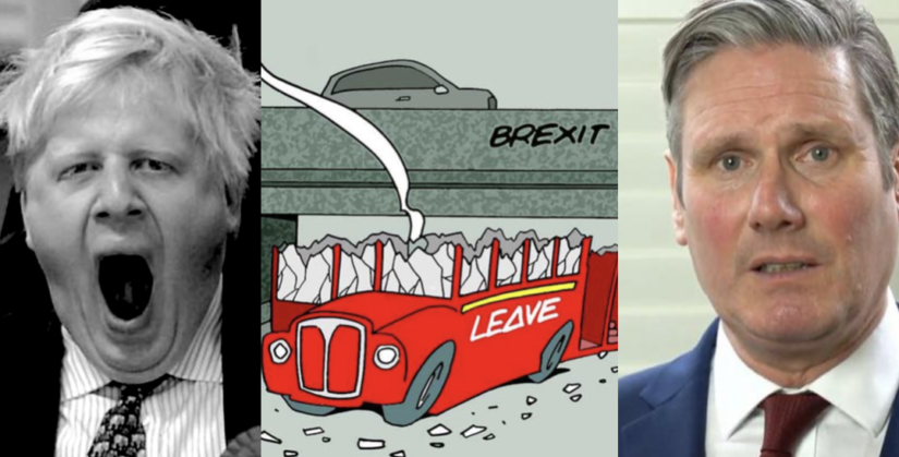 Boris Johnson's popularity crashes, Brexit support craters, Starmer leads